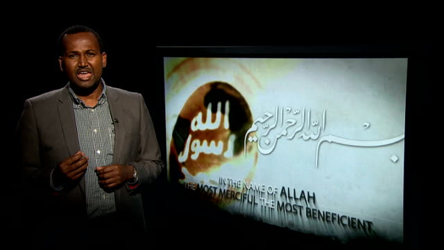 Al Shabaab video appears to threaten British muslims ENGLAND London GIR Masroor interview SOT What we need in Somalia is more law and order Reporter