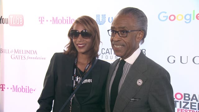 al sharpton at 2015 global citizen concert at central park on september 26 2015 in new york city - al sharpton stock videos & royalty-free footage