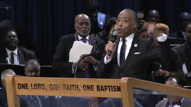 al sharpton remarks on aretha franklin and comments from president donald trump during his eulogy at aretha franklinõs funeral on august 31 2018 in... - eulogy stock videos & royalty-free footage