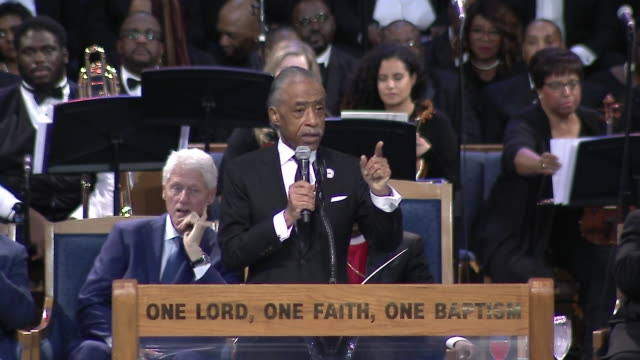 al sharpton remarks on aretha franklin during his eulogy at aretha franklinõs funeral on august 31 2018 in detroit michigan - eulogy stock videos & royalty-free footage