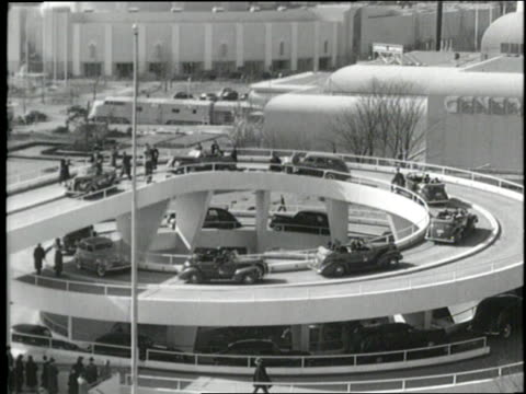 al smith henry ford and new york city mayor fiorello laguardia ride in a convertible at the 1939 world's fair in new york city - 1939 stock videos & royalty-free footage