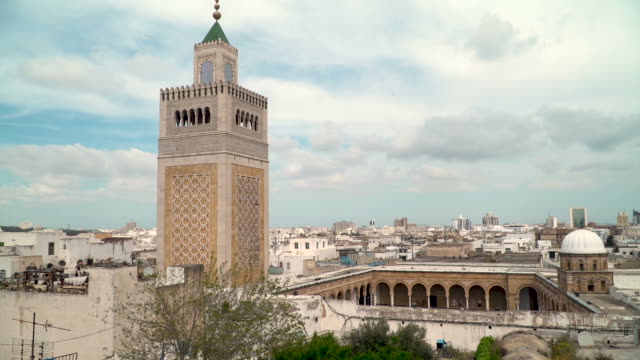 al zaytuna mosque, tunis - tunisia video stock e b–roll