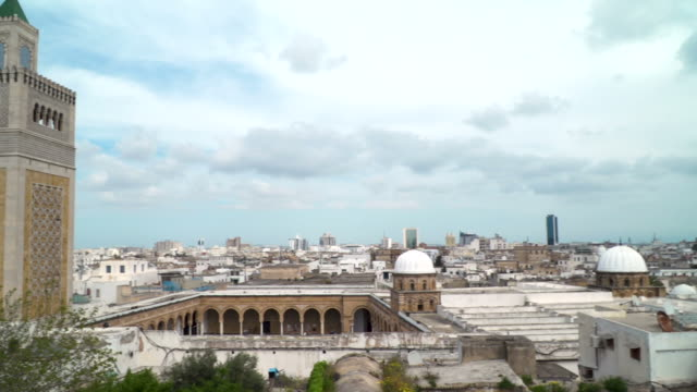 al zaytuna mosque, tunis - moschea video stock e b–roll