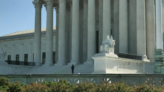 alabama bill to outlaw almost all abortions implications for other states usa washington dc ext various of us supreme court building - corte suprema palazzo di giustizia video stock e b–roll