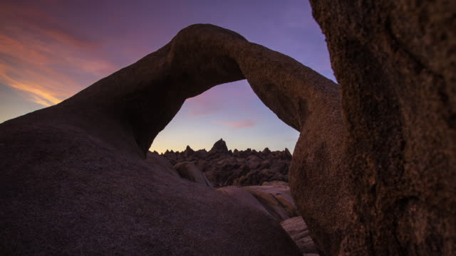 Alabama Hills Arch at Sunset - Motion Timelapse