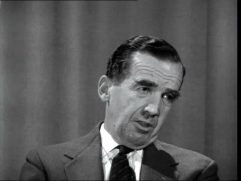 ed murrow interview 2 england london cs ed murrow sof partly because i am sure the federal law is violated the state authorities are in control this... - pressure point stock videos & royalty-free footage