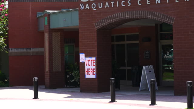 alabama republican primary runoff election voting in opelika, al, u.s. on tuesday, july 14, 2020. the runoff election pits jeff sessions against... - runoff election stock videos & royalty-free footage
