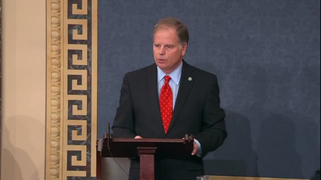 Alabama Senator Doug Jones says during his maiden speech to the Senate he considers himself an avid hunter but during a campaign in transition to...