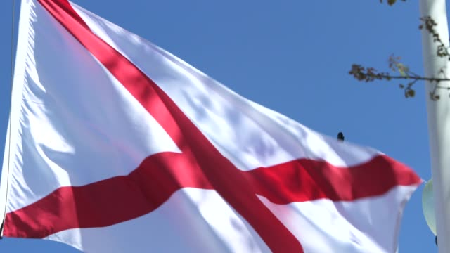 alabama state flag waving in the breeze - alabama us state stock videos & royalty-free footage