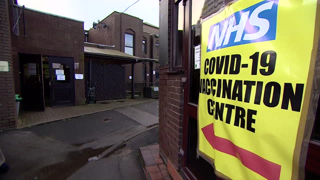 al-abbas islamic centre, mosque in birmingham being used as a covid-19 vaccination centre - west midlands stock videos & royalty-free footage