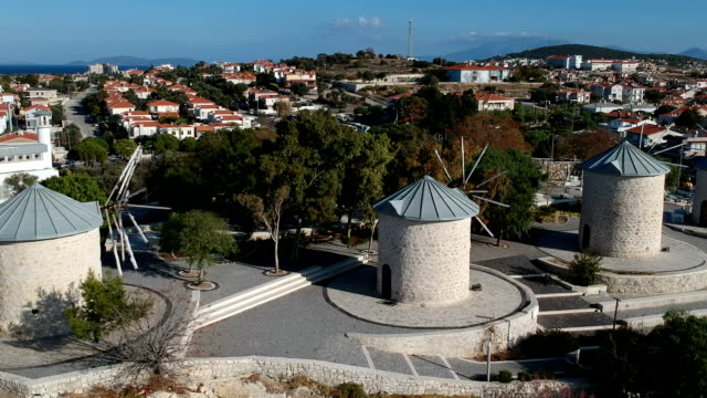 alacati townscape - izmir stock videos & royalty-free footage