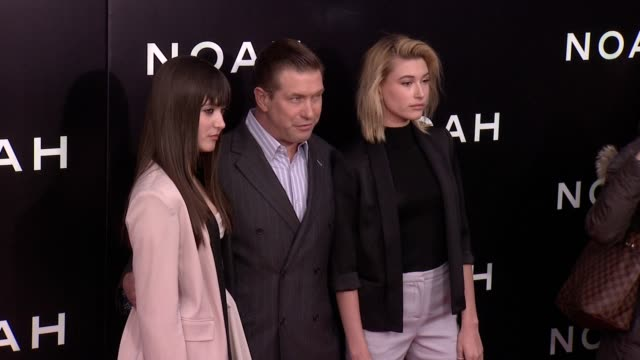 alaia baldwin, stephen baldwin, and hailey baldwin at ziegfeld theater on march 26, 2014 in new york city. - stephen baldwin stock-videos und b-roll-filmmaterial