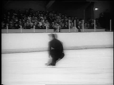 Alain Calmat spinning at World Figure Skating Championships / Colorado / newsreel