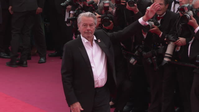 alain delon at 'a hidden life' red carpet arrivals the 72nd cannes film festival at palais des festivals on may 19 2019 in cannes france - cannes video stock e b–roll