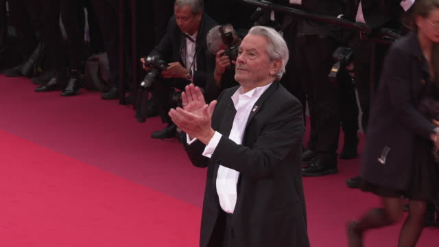 GIF Alain Delon at 'A Hidden Life' Red Carpet Arrivals The 72nd Cannes Film Festival at Palais des Festivals on May 19 2019 in Cannes France