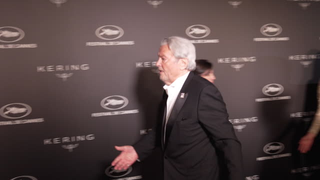 Alain Delon not posing for photographers after controversy over his honorary Palme D'Or at Kering Women in Motion Party The 72nd Cannes Film Festival...