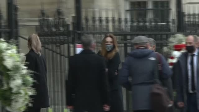 FRA: Political personalities arrive at funeral of Paris Match director Olivier Royant in Paris