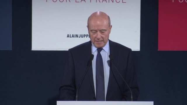 Alain Juppe conceded defeat and congratulated Francois Fillon on his large victory in France's rightwing presidential primary on Sunday