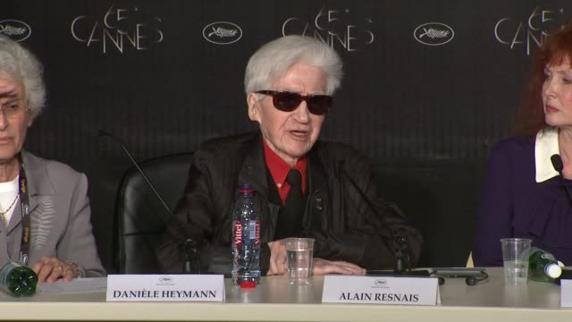 alain resnais on his work defined as baroque at vous n'avez encore rien vu press conference 65th cannes film festival on may 21 2012 in cannes france - baroque点の映像素材/bロール