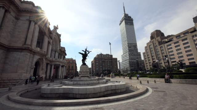 alameda central and downtown buildings - torre latinoamericana stock videos & royalty-free footage
