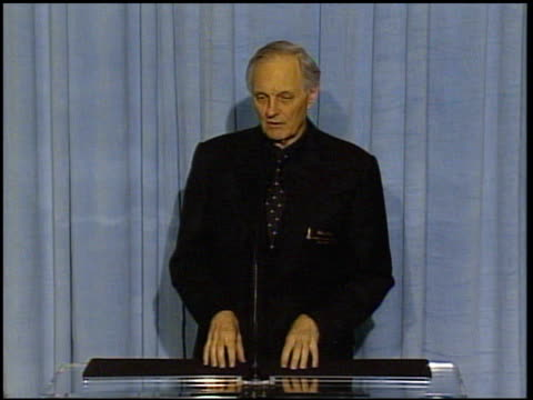 Alan Alda at the 2005 Annual Academy Awards Nominee Luncheon Interview Room at the Beverly Hilton in Beverly Hills California on February 7 2005