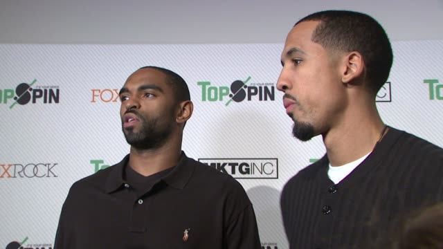 alan anderson and shaun livingston at topspin nyc 2013 charity event at the metropolitan pavilion on 11/6/13 in new york ny - alan anderson stock videos and b-roll footage