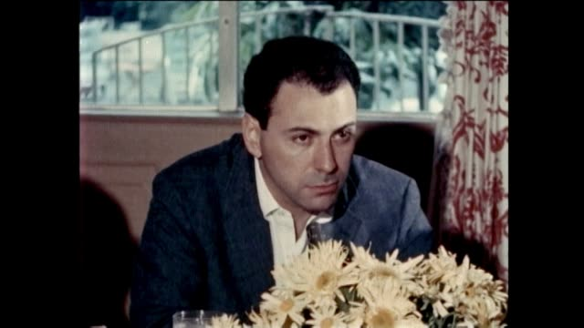 """alan arkin - interview - """"the russians are coming"""". alan arkin is interviewed about his role in his first picture, """"the russians are coming"""" at a... - アメリカ監督組合点の映像素材/bロール"""