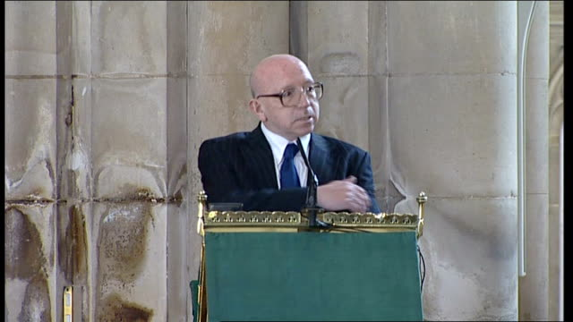 alan ball funeral nobby stiles eulogy sot - eulogy stock videos & royalty-free footage