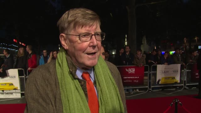 alan bennett on the subject, maggie smith and 'the history boys' at odeon leicester square on october 13, 2015 in london, england. - the history boys stock videos & royalty-free footage