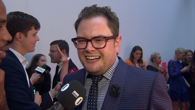 alan carr, comedian on caitlyn jenner and having family at gigs. the glamour awards took place on june 02, 2015 in london, england. - comedian stock videos & royalty-free footage