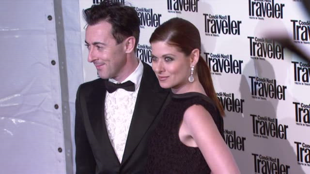 alan cumming and debra messing at the conde nast traveler celebrates 20 years of truth in travel at the cooperhewitt national design museum in new... - debra messing stock videos and b-roll footage
