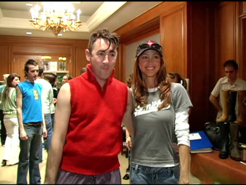 alan cumming and shannon elizabeth at the 2nd annual lucky/cargo club celebration of upfront week on may 18 2005 - alan cumming stock videos and b-roll footage