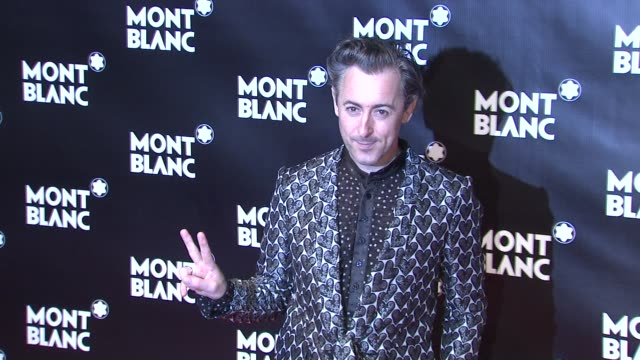 alan cumming at the global launch of the montblanc john lennon edition at new york ny. - alan cumming stock videos & royalty-free footage