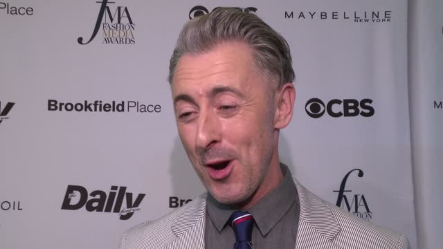 interview alan cumming jokes that he's here because of emotional blackmail what is is like for people in the industry it's a lovely occasion to... - alan cumming stock videos and b-roll footage