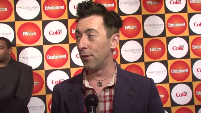 alan cumming on what brings him out tonight on being a big rihanna fan and that she is very popular among gay men what his must haves are what movies... - alan cumming stock videos and b-roll footage