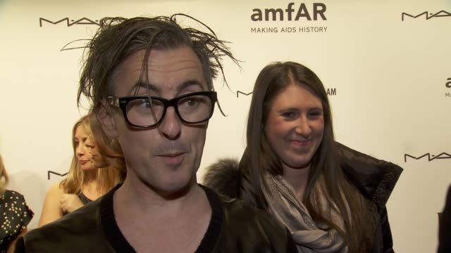 interview alan cumming on what makes amfar events so lavish at amfar new york gala to kick off fall 2013 fashion week at cipriani wall street on... - alan cumming stock videos and b-roll footage