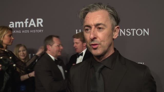 interview alan cumming talks about keeping the fight going at 19th annual amfar new york gala at cipriani wall street on february 08 2017 in new york... - alan cumming stock videos and b-roll footage