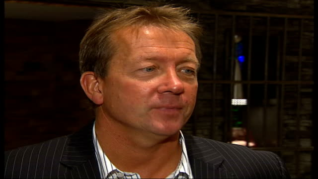 Alan Curbishley book launch Alan Curbishley chats to unidentified man at book launch as holding glass of orange juice SOT Discusses experiences at...
