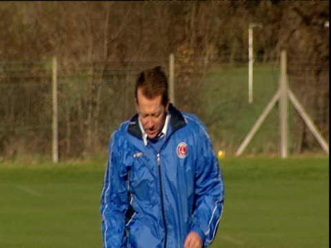 Alan Curbishley Manager of Charlton Athletic FC calls time during Charlton Athletic training session Sparrows Lane New Eltham London 10 Jan 04