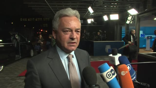 Alan Duncan interview re meeting Mahmoud Abbas NATO and defence BELGIUM Brussels Europa Building Alan Duncan MP interview SOT re meeting with Mahmoud...