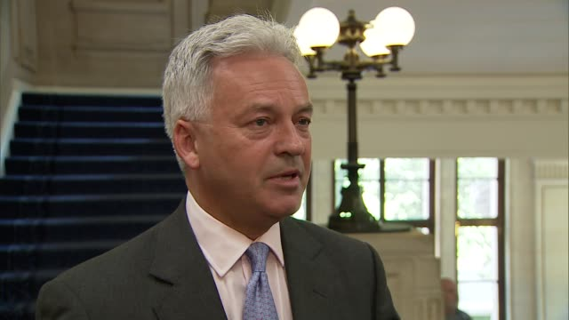 alan duncan mp, theresa may supporter, interview; england: london: westminster: int alan duncan mp interview sot - alan duncan stock videos & royalty-free footage