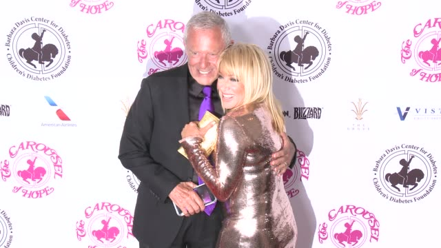 alan hamel suzanne somers at the 2016 carousel of hope ball in los angeles ca - suzanne somers stock videos & royalty-free footage