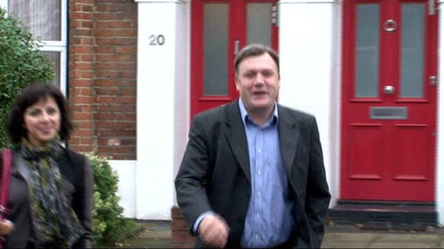 alan johnson chosen as shadow chancellor london ed balls mp leaving house with assistant yvette cooper mp leaving house alone - alan johnson stock videos & royalty-free footage
