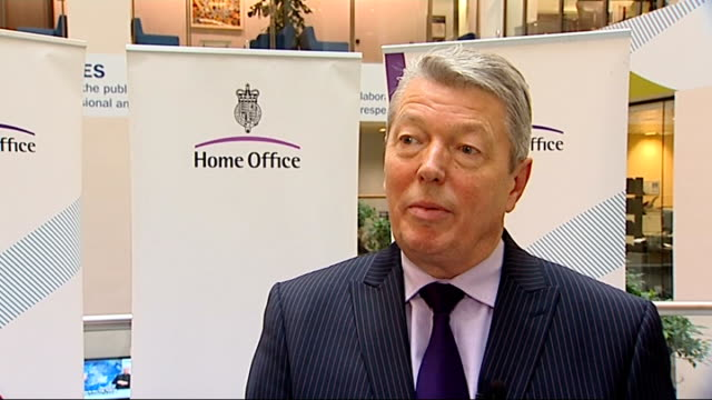 alan johnson interview on domestic abuse education england london int alan johnson mp interview sot this strategy is about prevention provision and... - キングストンアポンハル点の映像素材/bロール