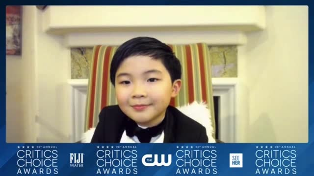 alan kim at the 26th annual critics choice awards – press room on march 7, 2021. - critics' choice movie awards stock-videos und b-roll-filmmaterial