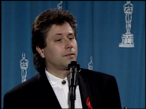 alan menken at the 1992 academy awards at dorothy chandler pavilion in los angeles california on march 30 1992 - dorothy chandler pavilion stock videos and b-roll footage