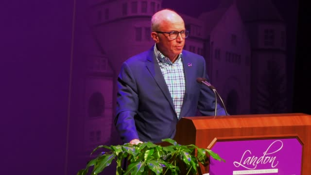alan murray ceo of fortune delivers the landon lecture today in the mccain auditorium at kansas state university in manhattan kansas - communication stock videos & royalty-free footage