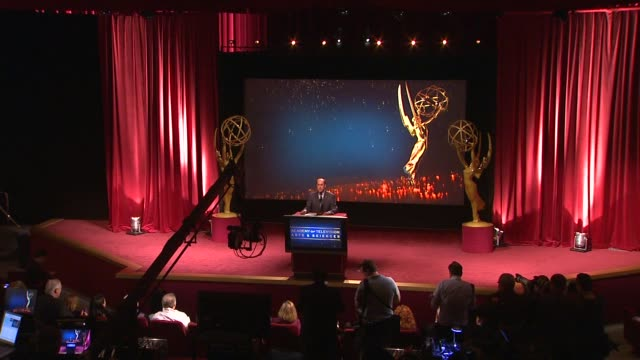 alan perris announces his retirement and introduces the nominations at 65th primetime emmy awards nominations announcement. speech - alan perris... - ceremony stock videos & royalty-free footage