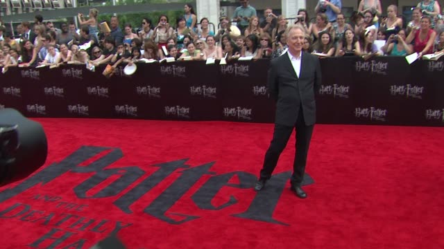 Alan Rickman at the 'Harry Potter And The Deathly Hallows Part 2' New York Premiere Arrivals at New York NY
