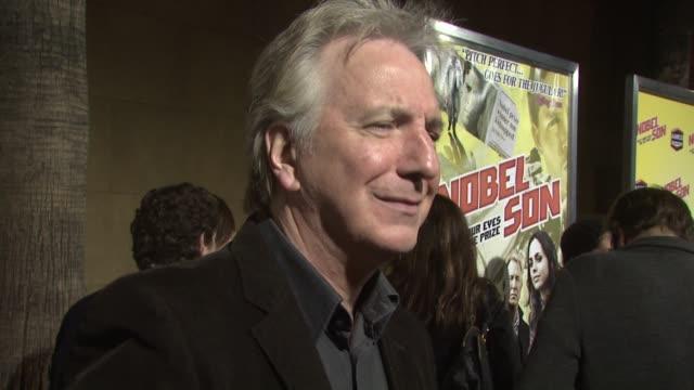 alan rickman at the 'nobel son' premiere at los angeles ca. - アラン・リックマン点の映像素材/bロール